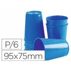 Vaso ABS azul 95x75 mm Borde grueso redondeado