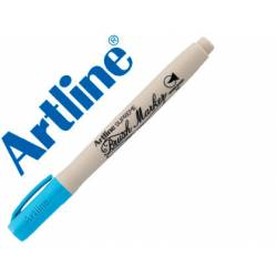 Rotulador Artline Supreme Brush Acuarelable Punta Pincel Azul Celeste