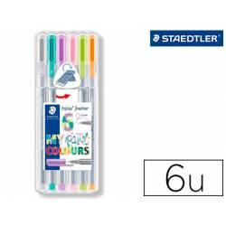 Rotulador Staedtler Triplus My Pastel Punta Fina Colores Surtidos Estuche de 6 unidades