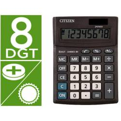 Calculadora Citizen Business line 136x100x32 mm Eco Solar y pilas 8 Digitos