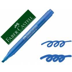 Rotulador Faber fluorescente Textliner 38 azul