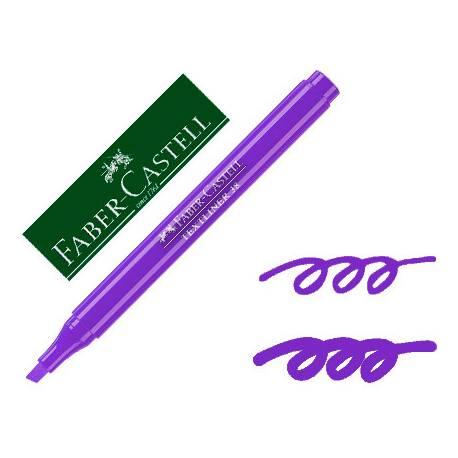Rotulador Faber fluorescente Textliner 38 violeta