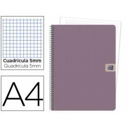 Cuaderno marca Oxford European Book 1 Nature DIN A4 Cuadricula 5mm tapa extradura