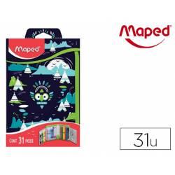 Plumier Maped Totem Cremallera de 31 piezas