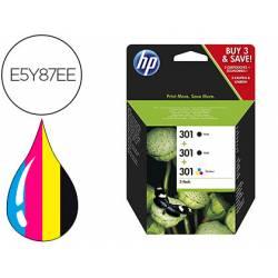 Cartucho HP N.301 Desjekt Pack ahorro 2 negro y 1 tricolor E5Y87EE