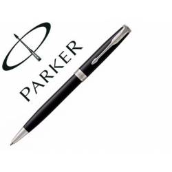 Bolígrafo Parker Sonnet CT Punta 1mm Tinta Azul Retráctil Lacado Negro