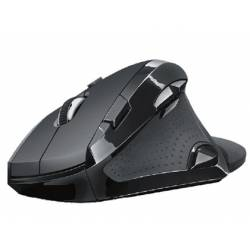 Raton optico Trust Vergo Wireless ergonomico 9 botones usb 2.0 color negro