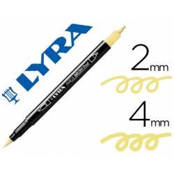 Rotulador Lyra aqua brush acuarelable punta fina y pincel amarillo crema