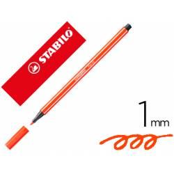 Rotulador Stabilo 68/40 1 mm Rojo