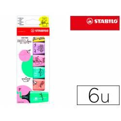 Rotulador Stabilo Boss Mini Pastellove Estuche 6 Unidades Colores surtidos