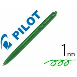 Boligrafo Pilot Super Grip G Verde 0.4mm retráctil