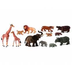 Juego Infantil a partir de 3 años Animales de la Selva y sus crias marca Miniland
