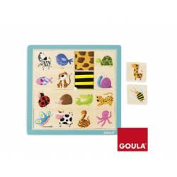 Puzzle Texturas a partir de 1 año de 16 piezas marca Goula