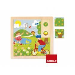 Puzzle Primavera a partir de 2 años 16 piezas marca Goula