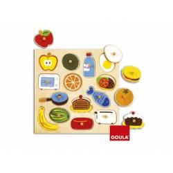Puzzle Dentro y fuera a partir de 2 años 14 piezas marca Goula