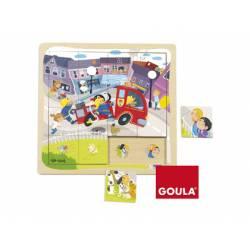 Puzzle Camión Bomberos a partir de 1 año de 16 piezas marca Goula