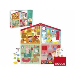 Puzzle en Casa a partir de 4 años de 38 piezas marca Goula