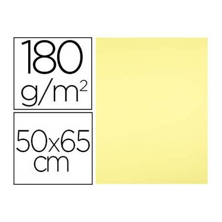Cartulina Liderpapel Amarillo Medio 50x65 cm 180 gr 25 unidades