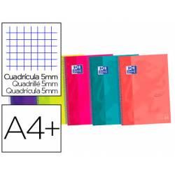 Cuaderno Oxford Ebook 5 A4+ Colores Surtidos Tapa Extradura Cuadricula 5 mm