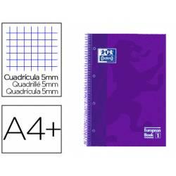 Cuaderno Oxford Ebook 1 A4+ Lila Tapa Extradura Cuadricula 5 mm