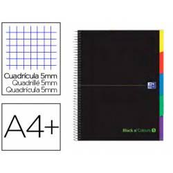 Cuaderno Oxford Ebook 5 A4+ Negro y Verde 100 hojas Tapa Extradura Cuadricula 5 mm