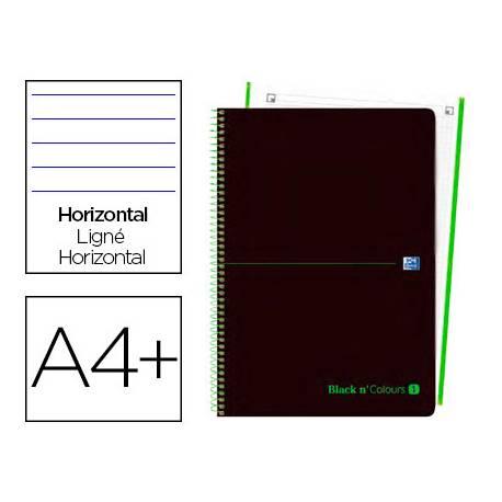 Cuaderno Oxford Ebook 1 A4+ Negro y Verde Tapa Plastico Rayado Horizontal