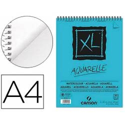 Bloc Dibujo Acuarela Canson XL A4 Microperforado Espiral Grano Fino