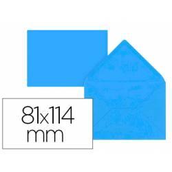 Sobre C7 Liderpapel 81x114mm 80g/m2 Azul Pack de 12 unidades