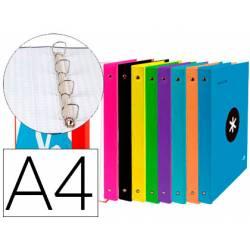 Carpeta Antartik A4 4 anillas 40 mm de Carton forrado Colores surtidos