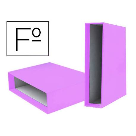 Caja Archivador Liderpapel Documenta Folio Lomo 75 mm Lila