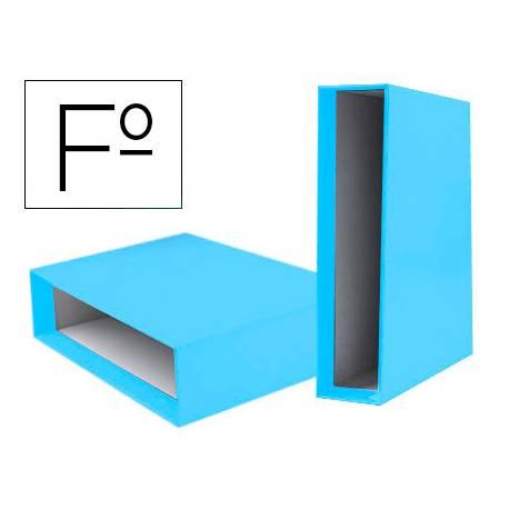 Caja Archivador Liderpapel Documenta Folio Lomo 75 mm Celeste