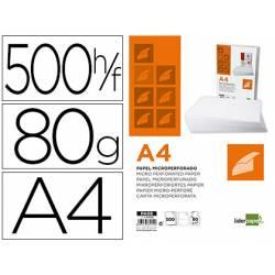 Papel A4 Microperforado Liderpapel 80gr 500 hojas