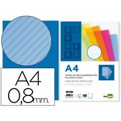Tapa de Encuadernacion Ondulada Polipropileno Liderpapel DIN A4 Azul 0.8mm pack 50 uds