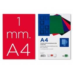 Tapa de Encuadernacion Carton Liderpapel DIN A4 Rojo 1mm pack 50 uds