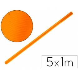 Bobina Papel Kraft Liderpapel 5x1 m Naranja fuerte