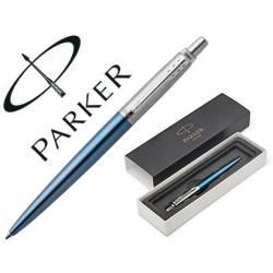 Bolígrafo Parker Jotter Waterllo CT Punta 1mm Tinta Azul Color Azul en Estuche
