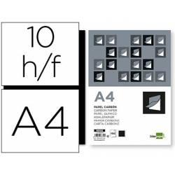 Papel Carbon Negro Din A4 Film Bolsa de 10 unidades Liderpapel