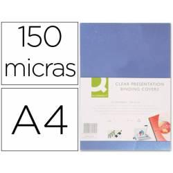 Tapa de Encuadernacion PVC Q connect Din A4 Incolora 150MC pack 100 uds