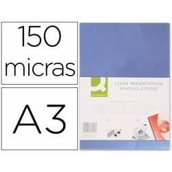 Tapa de Encuadernacion PVC Q connect Din A3 Incolora 150MC pack 100 uds