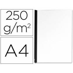 Tapa de Encuadernacion Carton Q connect Din A4 Blanco 250gr pack 100 uds