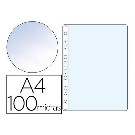 Funda Multitaladro Q-Connect A4 100 MC Cristal Caja 100