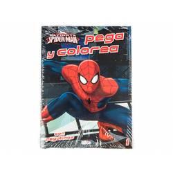 Spiderman Colorear con este Cuaderno Pegacolor con Pegatinas