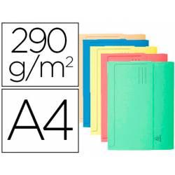 Subcarpeta Cartulina Reciclada A4 Exacompta con bolsa Colores Surtidos 290 gr 50 unidades