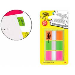 Post-it ® Banderitas Separadoras Index Medianas Naranja, Rosa, Verde