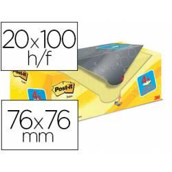 Bloc Quita y Pon Post-It ® Super Sticky 76X76 mm Amarillo Canario