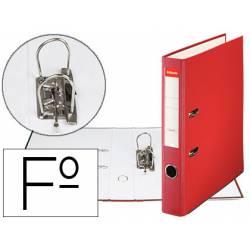 Archivador de Palanca Esselte Carton Forrado Folio Lomo de 50 mm Rojo