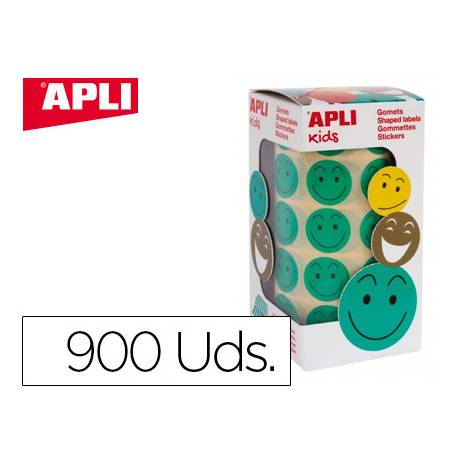 Gomets Apli smile verde 20mm