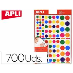 Gomets APLI autoadhesivo formas surtidas multicolor
