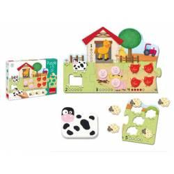Puzzle a partir de 2 años Animales 1-5 marca Goula