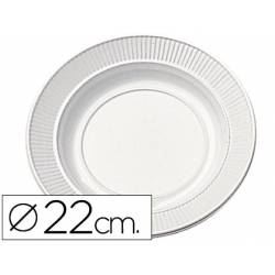 Plato de plastico llano 22cm